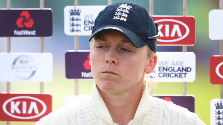 England captain Heather Knight has criticised the decision to stage the Test match between England and India at Gloucestershire's County Ground on a used pitch
