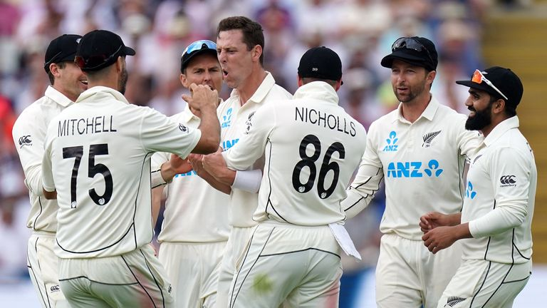 Matt Henry took two wickets just after lunch, including the key scalp of Joe Root