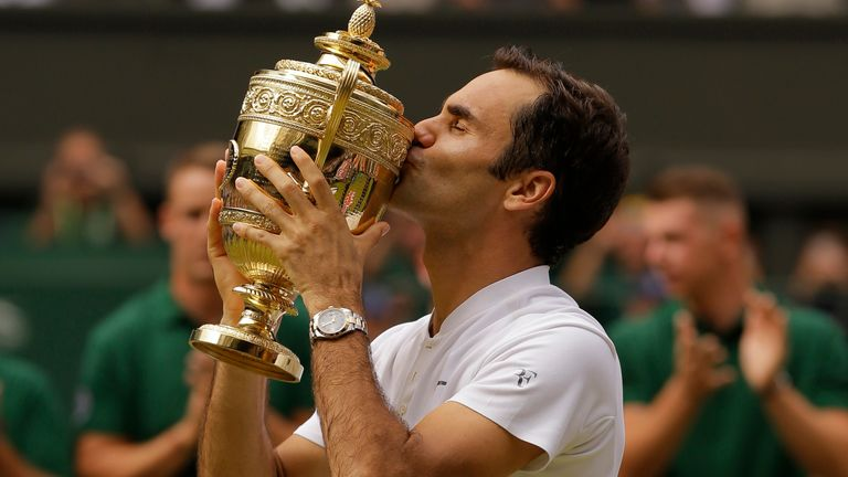 Roger Federer won the last of his eight Wimbledon titles in 2017 (AP Photo/Alastair Grant)