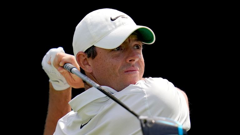 Rory McIlroy hurled a three-wood towards a main road on Monday