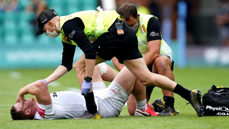 Sam Simmonds was only briefly evaluated on the pitch, says Rob Baxter
