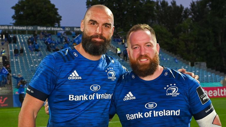 Retiring pair Scott Fardy and Michael Bent ended their time at Leinster with a win over the Dragons