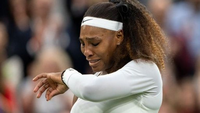 Serena Williams' Wimbledon ended in tears after she was forced to retire from his first-round match due to an injury to her left ankle