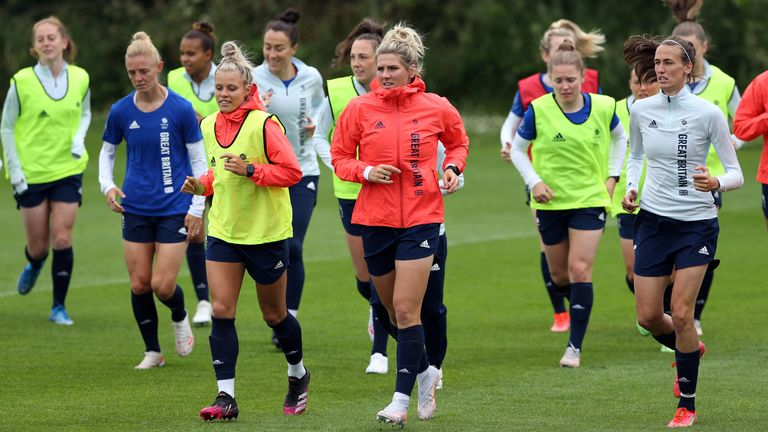 The Team GB squad have been training at Loughborough University before heading out to Tokyo