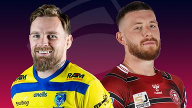 Warrington and Wigan clash in Wednesday's Super League showdown