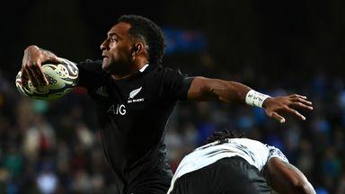 Sevu Reece breaks for the All Blacks