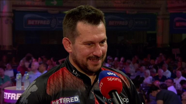 Clayton was pleased to get his first win at the Matchplay
