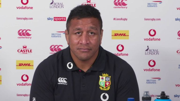 Mako Vunipola says he's sorry for any injury caused to South Africa winger Cheslin Kolbe after he picked him up off the ground following a tackle on Saturday, something which has drawn criticism from Rassie Erasmus.