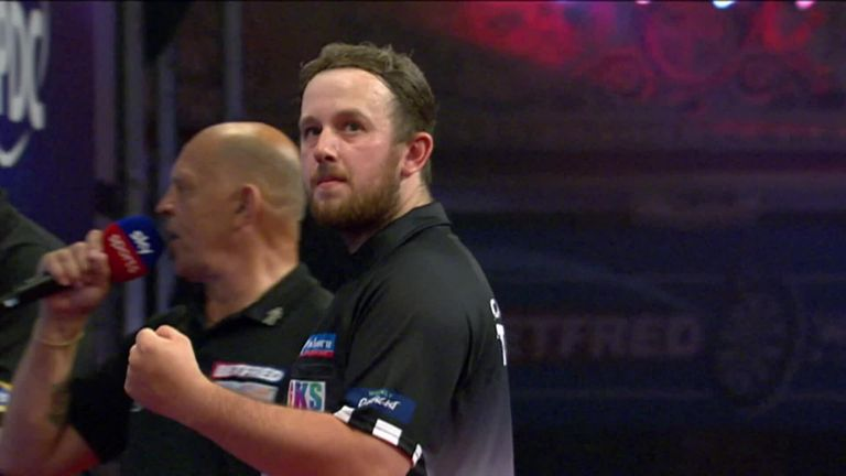 Callan Rydz hit a massive four bullseye finishes in his win over Rob Cross - including a huge 170 checkout!
