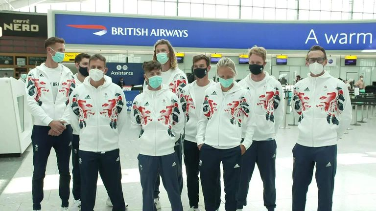 One of the first batches of Team GB athletes has left the UK for Tokyo in advance of the Games. The sailing team has been dominant in recent Games will head straight from Tokyo to their base close to the Olympic sailing venue