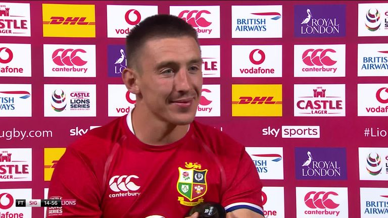 Despite scoring four tries, Josh Adams hailed Watson's performance after he claimed man of the match ahead of the winger