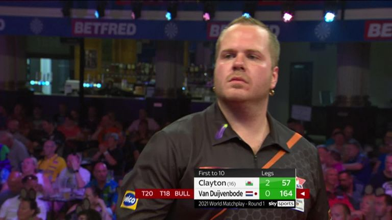 Van Duijvenbode produced this massive 164 finish against Clayton