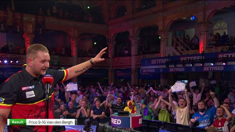 Dimitri Van den Bergh said Gerwyn Price's mental games of mocking his dance made him smile and didn't prevent him from beating the world number one.