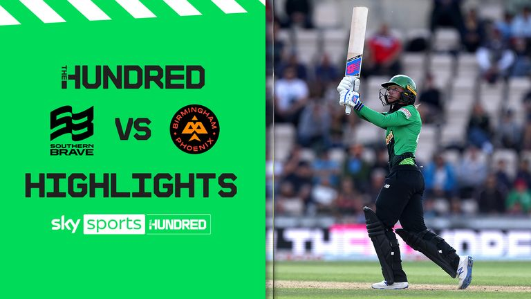 Watch the best of the action from Southampton where the Southern Brave took on the Birmingham Phoenix in The Hundred.