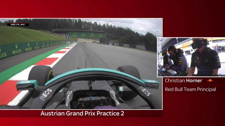 Watch as Lewis Hamilton finds the gravel during late drizzle in Practice Two at the Red Bull Ring
