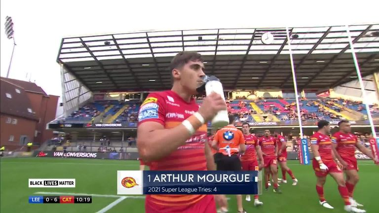 Mourgue's brilliant solo try saw Catalans take an early lead