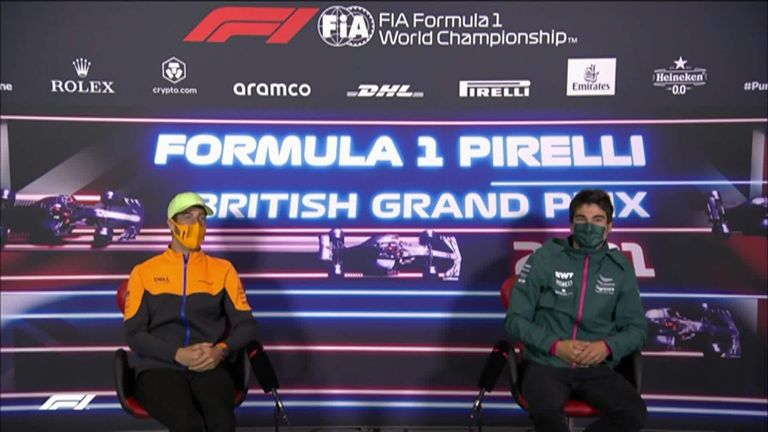 Daniel Ricciardo and Lance Stroll demonstrated their best Scottish accents in the press conference ahead of the British GP