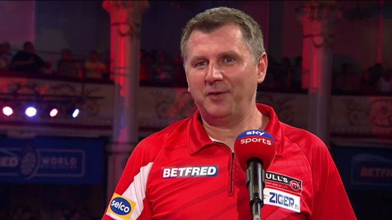 Krzysztof Ratajski said he's over the moon to reach his first major semi-final in the PDC, after defeating Callan Rydz 16-8