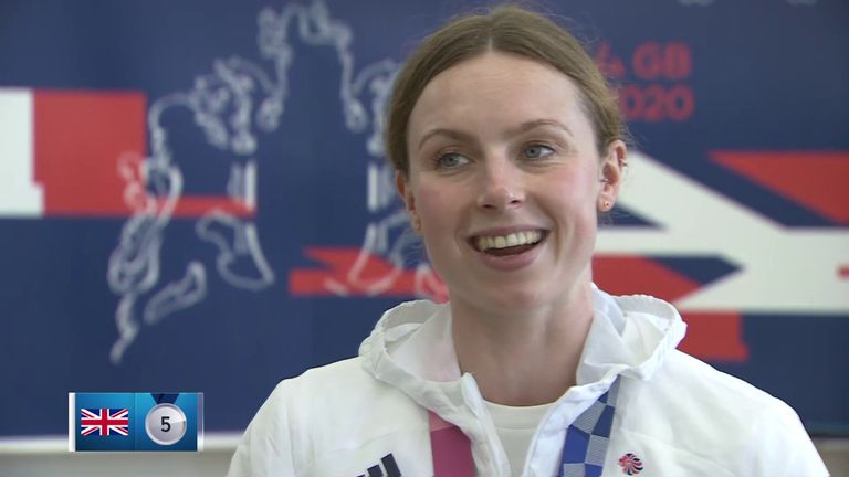 Georgia Taylor-Brown reveals she won silver for Team GB in the women's triathlon at the Olympics despite a flat tyre during the cycling section