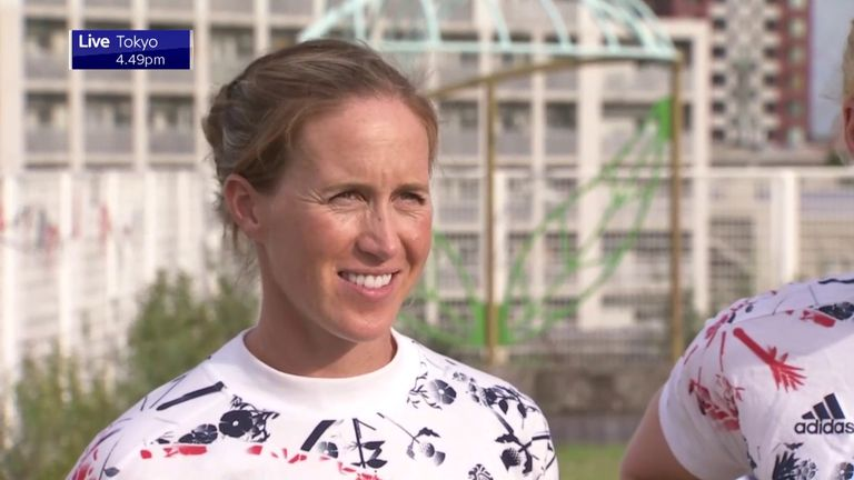 Double Olympic champion Helen Glover says she could not have imagined reaching the Tokyo Games just over a year after having twins