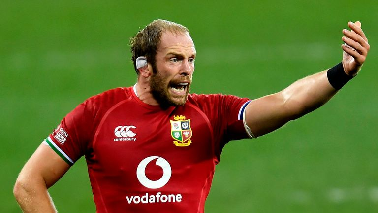 Alun Wyn Jones came off the bench against the Stormers