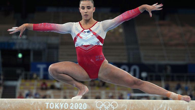 Amelie Morgan helped Team GB's women's gymnastics team claim bronze in the team final