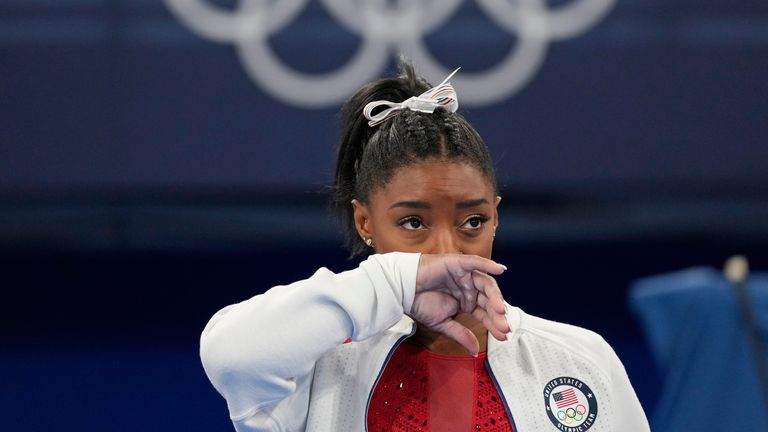 Sky Sports News reporter Geraint Hughes reports from Tokyo where USA gymnast Simone Biles pulled out of the women's team final at the Olympic Games