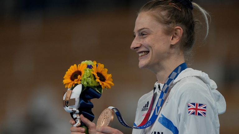 Bryony Page won a bronze medal for Team GB, her second successive Olympic medal
