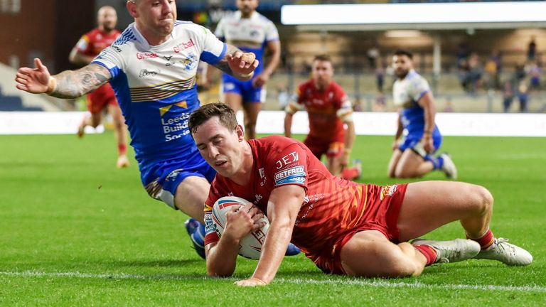 Matt Whitley's try put Catalans in touching distance of Leeds