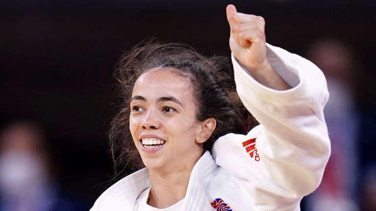 Chelsie Giles won Team GB's first medal of the Olympics with a bronze in the judo