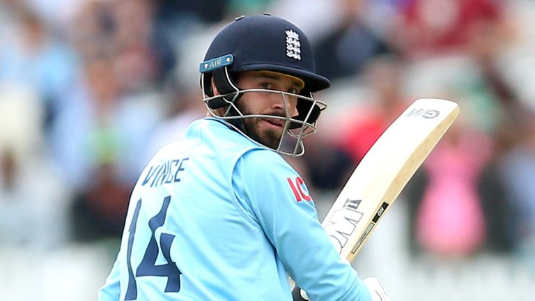 Vince registered his first international century for England at the 50th attempt across all formats
