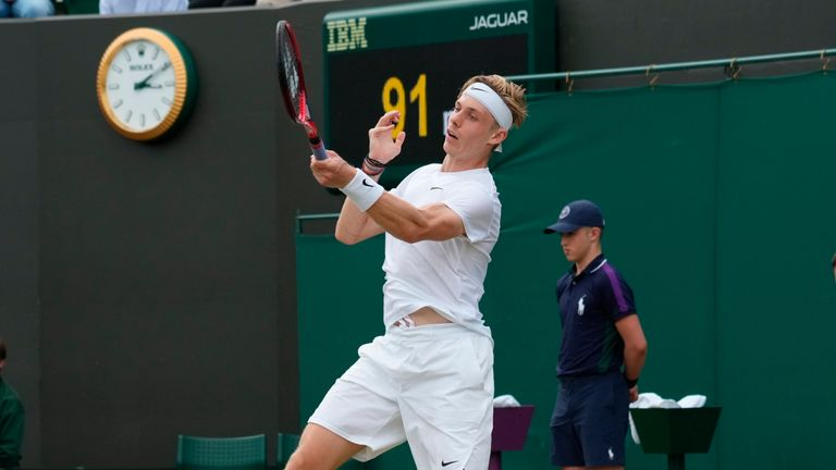 Denis Shapovalov will meet Karen Khachanov in the last eight after both reached the Wimbledon quarter-finals for the first time