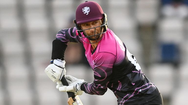 New Zealand opener Devon Conway struck an unbeaten fifty as Somerset booked their spot in the last eight