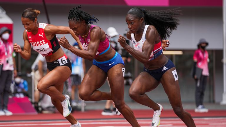 Dina Asher-Smith's semi-final will take place at 11:15am BST on Saturday