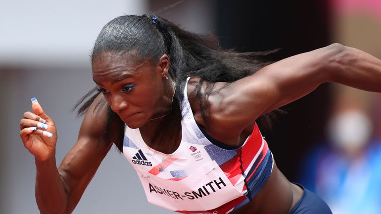 Dina Asher-Smith wasn't able to secure an automatic qualifying spot or fastest loser space