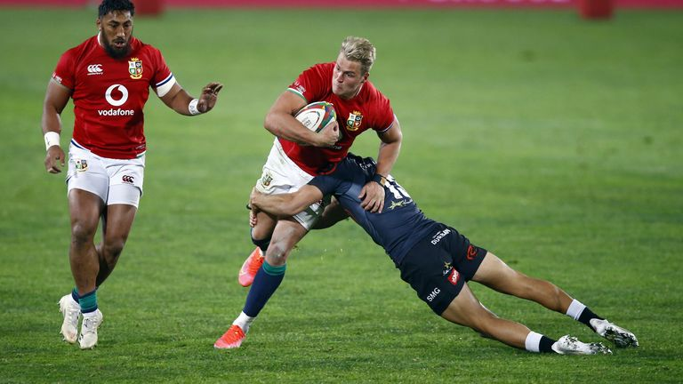 Duhan van der Merwe was impressive for the Lions