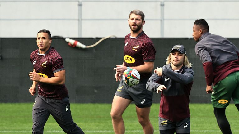 Cheslin Kolbe (L), Willie Le Roux and Faf De Klerk all start for South Africa 'A'