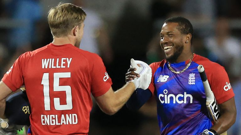 Chris Jordan got England over the line with two balls to spare in Manchester