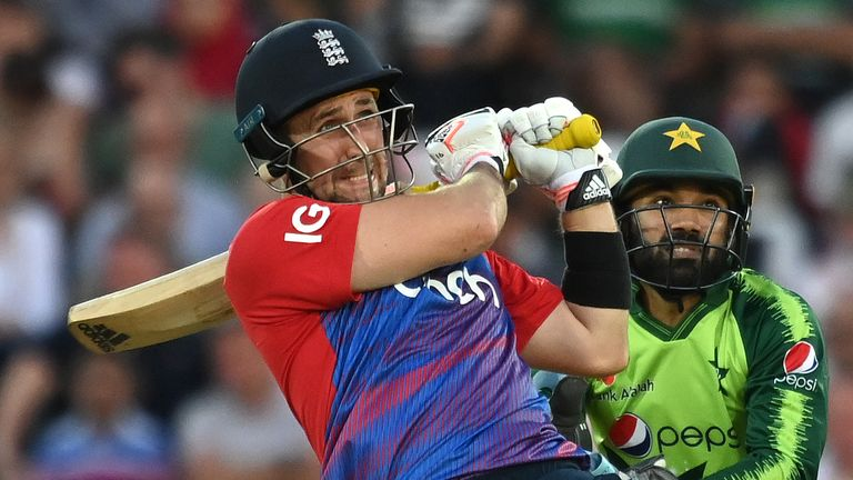 Livingstone raced to 50 in 17 balls and got through to three figures in an England record 42