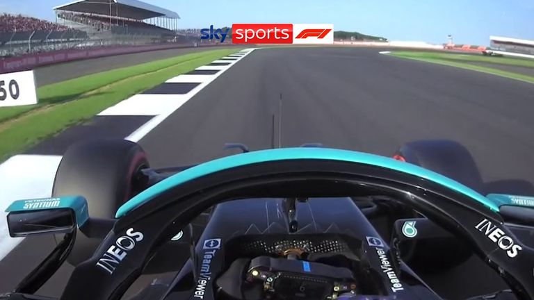 Watch how Lewis Hamilton secured first place for the first Sprint of the season at Silverstone.