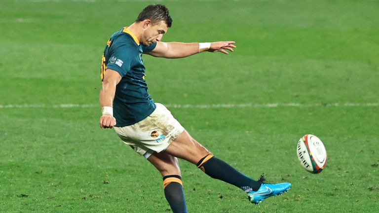 Handre Pollard kicked four penalties as the Springboks got out to a 12-3 lead