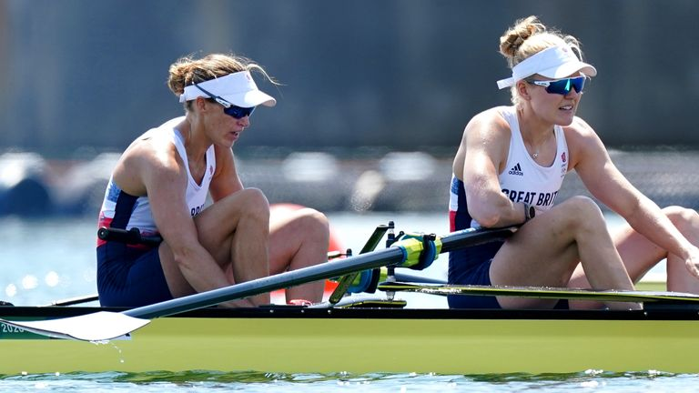 Helen Glover and Polly Swann narrowly missed out on a medal in the women's pair final