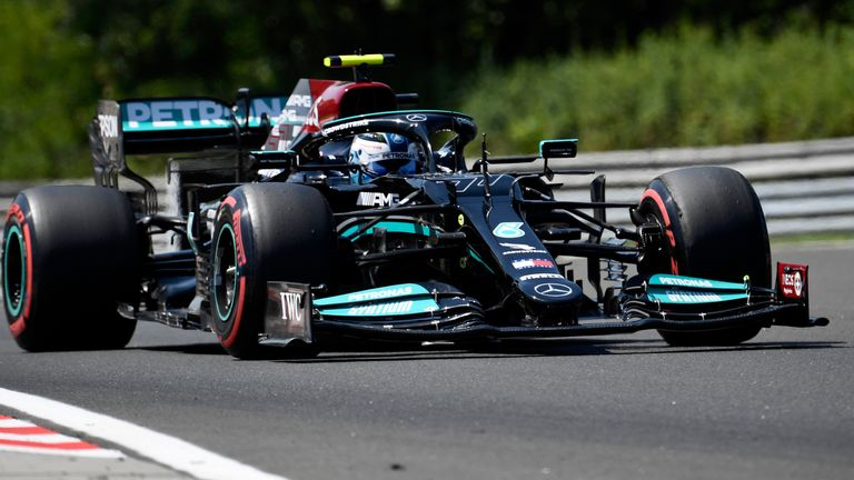 Hungarian GP: Valtteri Bottas fastest in second practice session with Lewis Hamilton second ahead of Max Verstappen
