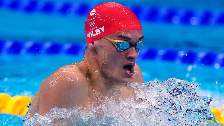 James Wilby finished sixth in the men's 200m breaststroke final