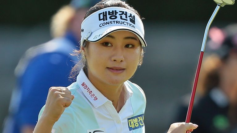 Jeongeun Lee6 heads into the weekend on 15 under at the Evian Championship
