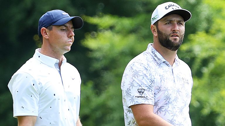 Rory McIlroy, Jon Rahm and Justin Thomas were grouped together in an all-star threeball