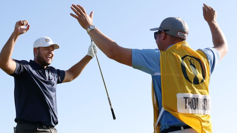 Jonathan Thomson enjoyed a hole-in-one during the second round at The 149th Open