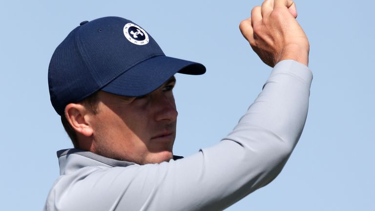 Jordan Spieth will go out in the penultimate group on Saturday