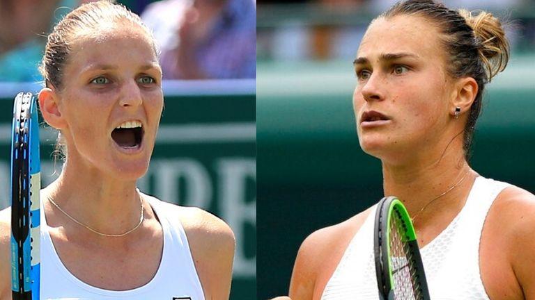 Karolina Pliskova will meet Aryna Sabalenka in the other women's singles semi-final