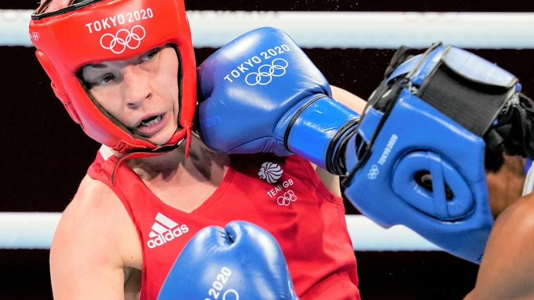Lauren Price takes on the Netherlands' Nouchka Fontijn on Friday for a place in the gold medal match
